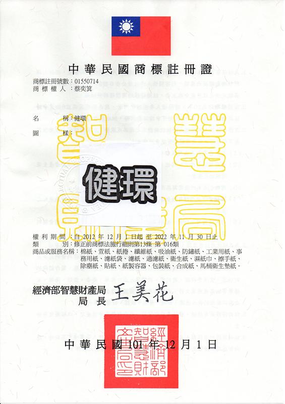 健環 商標